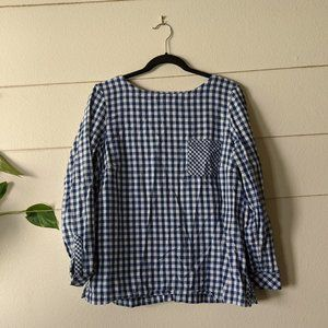J. Jill Cotton Gingham Blouse
